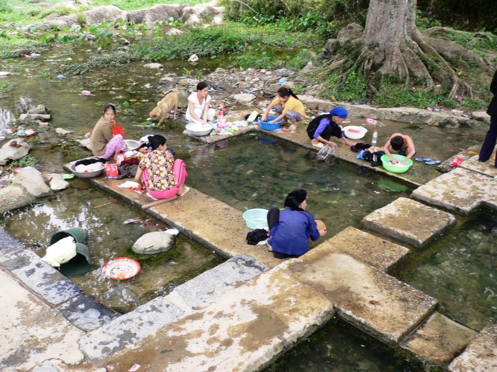 Le lavoir de Loang Hoia